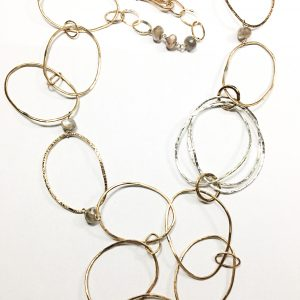 sterling silver necklace by Slate at Made You Look Jewellery