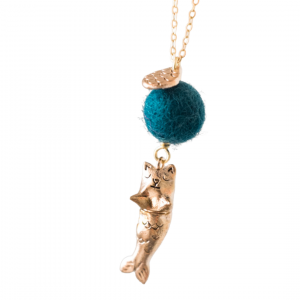 purrmaid cat and mermaid pendant necklace by Dawning Collective