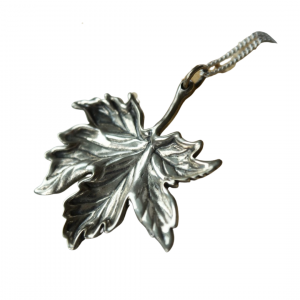 Proudly Canadian. Handmade Canadian silver maple leaf nekclace.