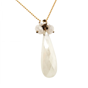 Mixed gem and pearl necklace