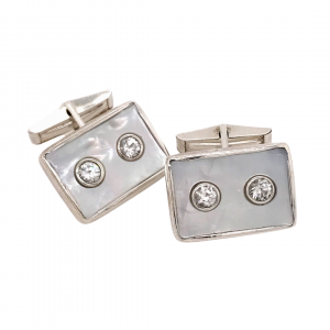 Pearl button cufflinks